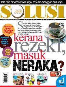 Cover Majalah SOLUSI Bulan OGOS-2008