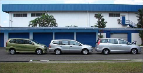 Toyota Avanza, Nissan Grand Livina dan Proton Exora.