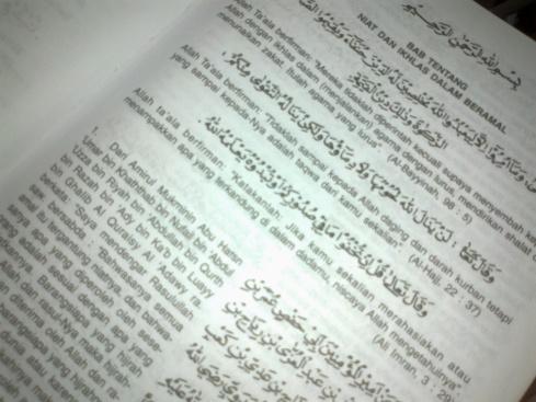 Kalam ALLAH & RasulNYA disusun mengikut bab dalam kitab ini.