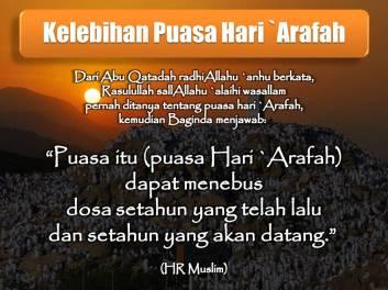 Kelebihan Puasa Hari Arafah (09 Zulhijjah)