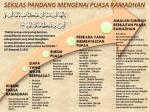 Sekilas Pandang Mengenai Puasa Ramadhan