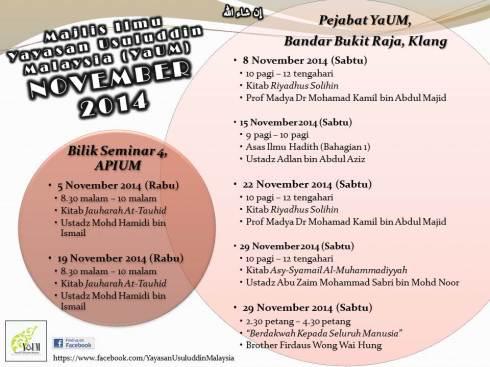 Jadual kuliah nov14