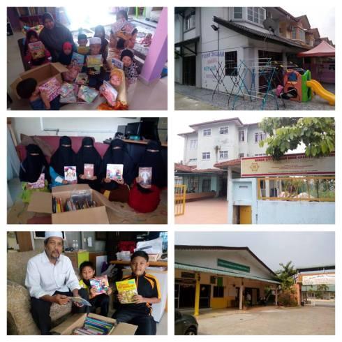 projek buku untuk rumah anak2 yatim
